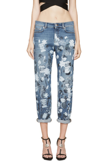 Versus - Blue Graphic Print Anthony Vaccarello Edition Jeans