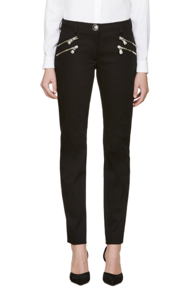 Versus - Black Zippered Trousers