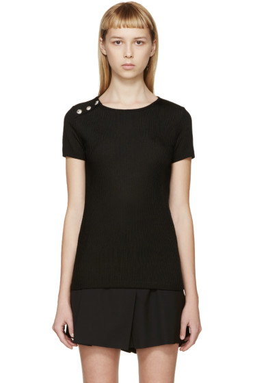 Versus - Black Buttoned Sweater