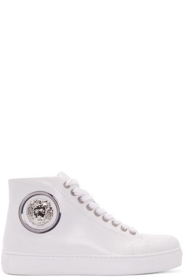 Versus - White Lion High-Top Sneakers
