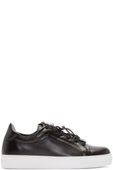 Versus - Black Buckle Low-Top Sneakers