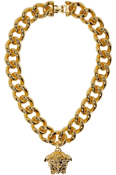 Versace - Gold Thick Chain Medusa Necklace