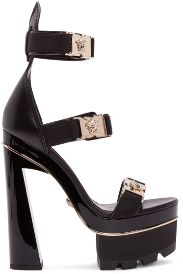 Versace - Black Medusa Platform Heels