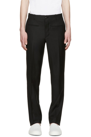 Versace - Black Gabardine Trousers