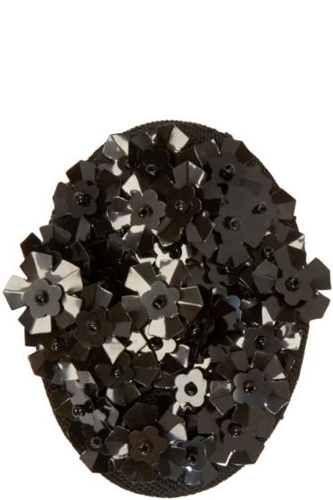 Simone Rocha - Black Beaded Cluster Brooch