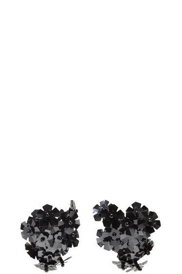 Simone Rocha - Black Beaded Cluster Earrings