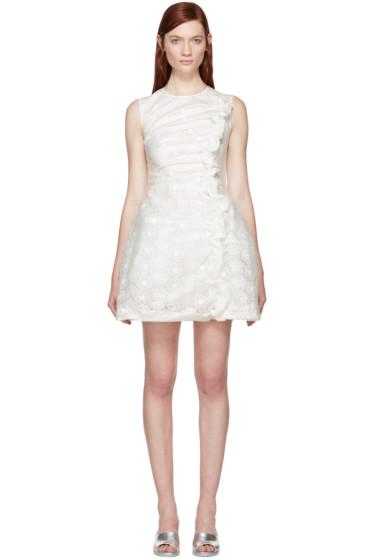 Simone Rocha - White Ruffled Bonded Lace Dress