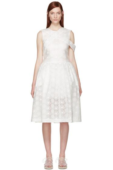 Simone Rocha - White Bonded Lace Dress