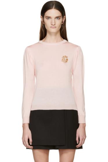 Simone Rocha - Pink Beaded Appliqué Sweater