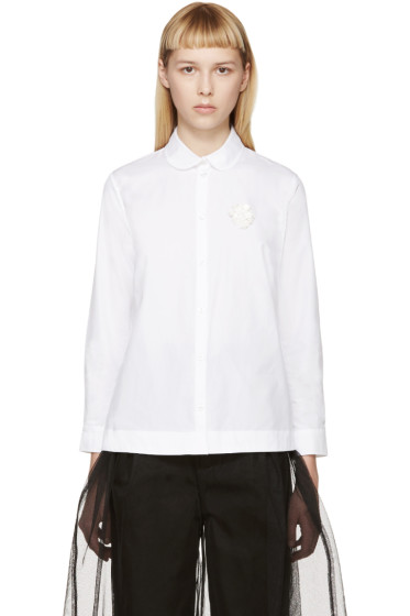 Simone Rocha - White Beaded Badge Shirt