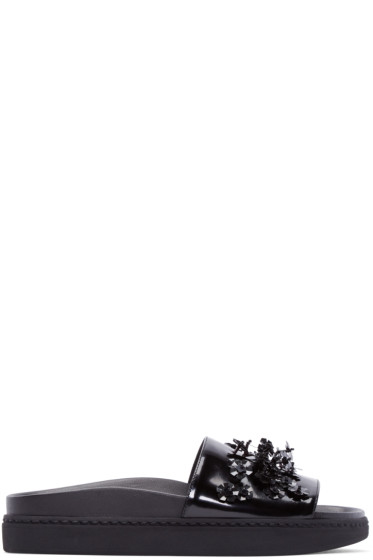 Simone Rocha - Black Beaded Sandals