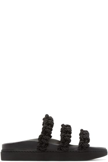 Simone Rocha - Black Knotted Strap Sandals