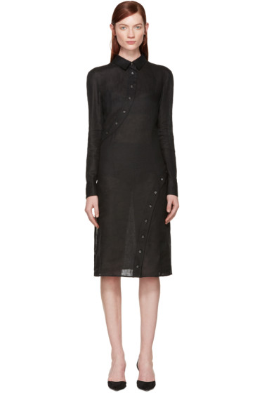Altuzarra - Black Linen Hibiki Dress