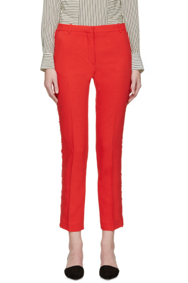 Altuzarra - Red Linen Emile Trousers