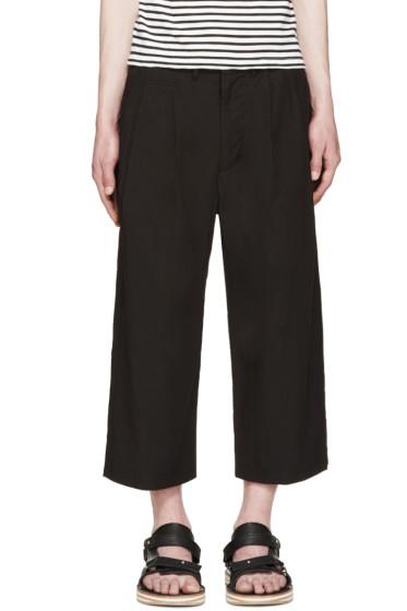 Sasquatchfabrix - Black Oriental Cropped Pants