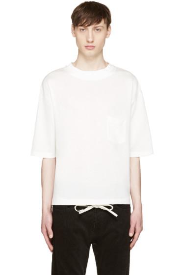 Sasquatchfabrix - White Knit T-Shirt