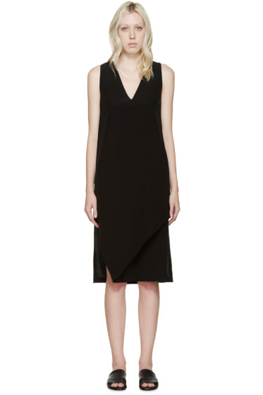Dion Lee - Black Silk V-Neck Dress