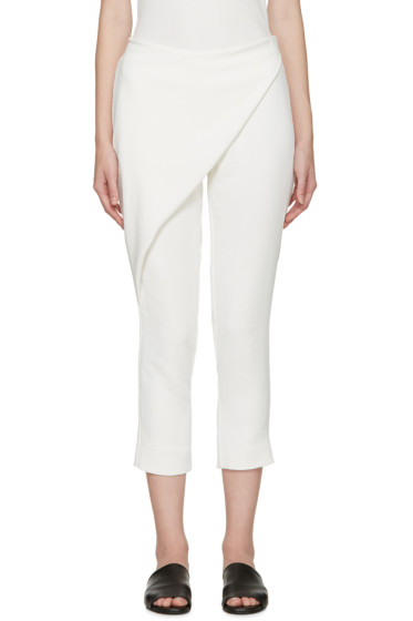 Dion Lee - White Folded Sail Trousers