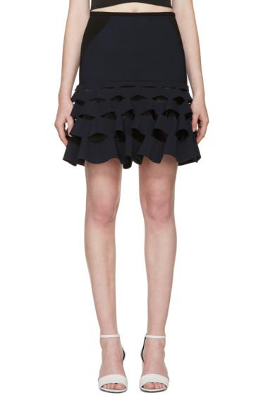 Dion Lee - Navy Cut Ruffle Miniskirt