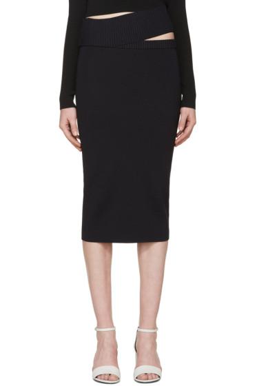 Dion Lee - Navy Knit Density Skirt
