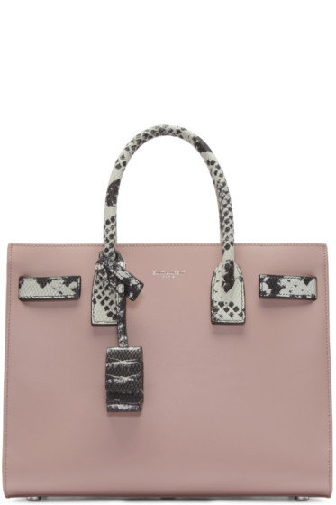 Saint Laurent - Pink Leather Baby Sac De Jour Tote