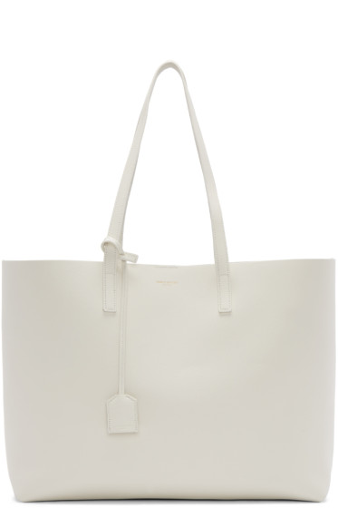 Saint Laurent - White Large Shopping Tote