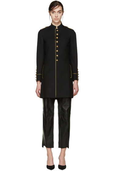 Saint Laurent - Black Wool Military Coat