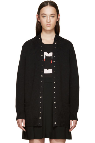 Saint Laurent - Black Studded Cardigan