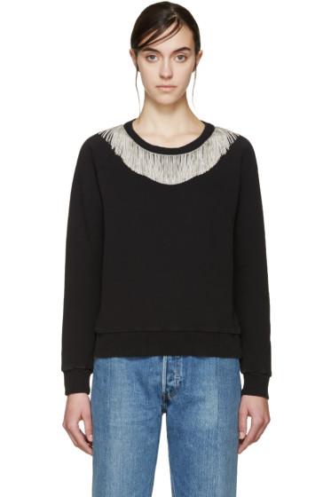 Saint Laurent - Black & Silver Fringed Pullover