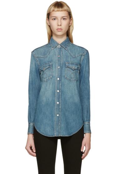 Saint Laurent - Blue Classic Denim Shirt