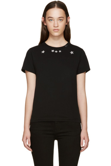 Saint Laurent - Black Star Collar T-Shirt