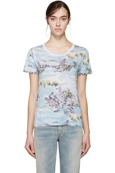 Saint Laurent - Multicolor Hawaii T-Shirt