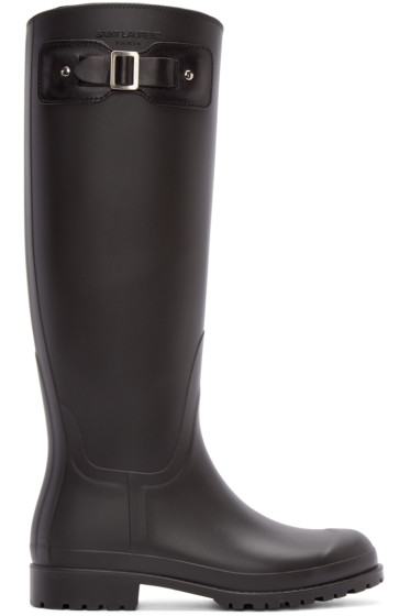 Saint Laurent - Black Rubber Festival Boots