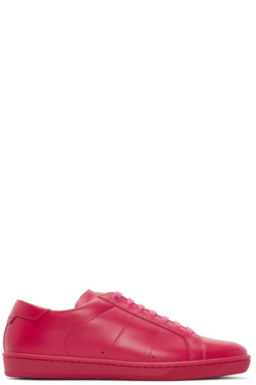 Saint Laurent - Pink Leather Court Classic SL/01 Sneakers