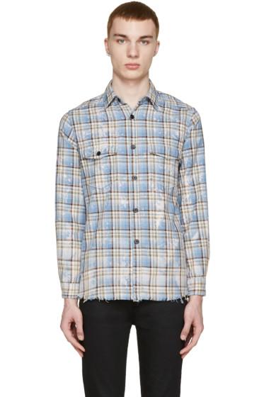 Saint Laurent - Blue & Yellow Check Shirt