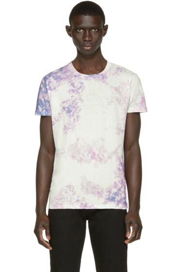 Saint Laurent - White & Purple Tie Dye T-Shirt