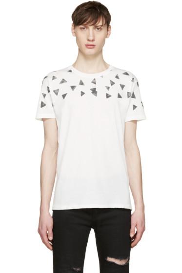 Saint Laurent - White Triangle Fit T-Shirt