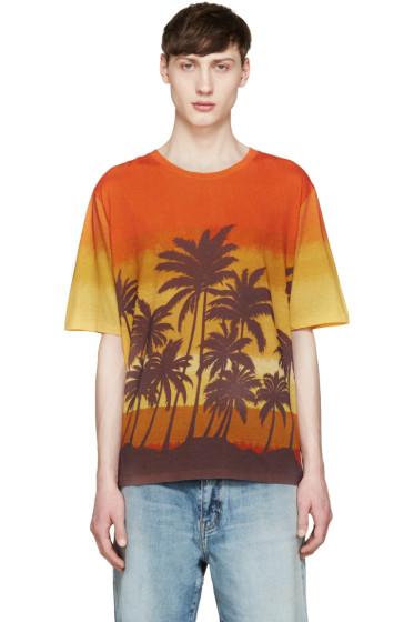 Saint Laurent - Multicolor Palm Tree T-Shirt