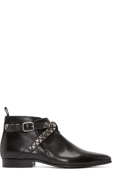Saint Laurent - Black Studded London Boots