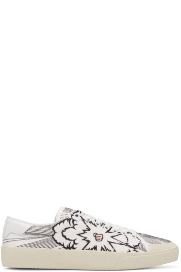 Saint Laurent - White Bang Court Classic Sneakers