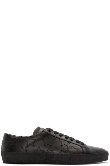 Saint Laurent - Black Leather Stars Court Classic Sneakers