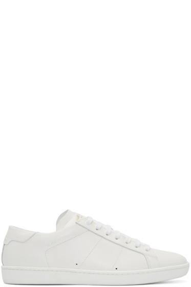 Saint Laurent - White Leather SL/01 Court Classic Sneakers