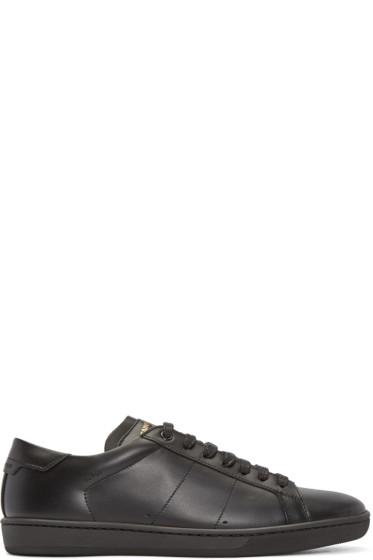 Saint Laurent - Black Leather SL/01 Court Classic Sneakers
