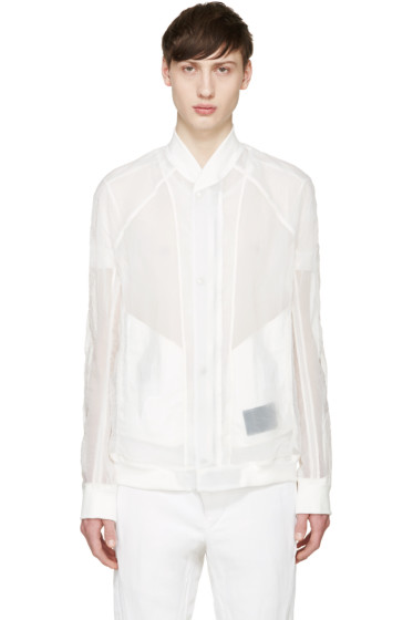 Julius - White Organza Bomber Jacket