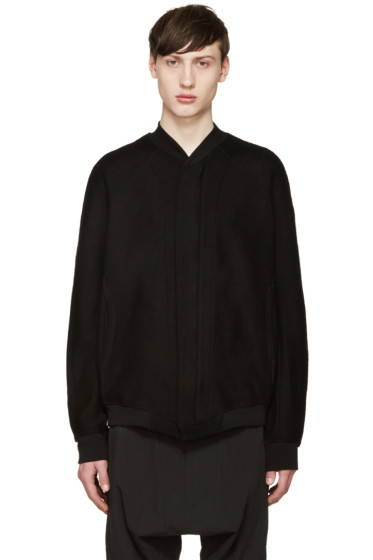 Julius - Black Jacquard Bomber Jacket