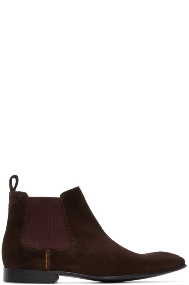 PS by Paul Smith - Brown Suede Falconer Boots