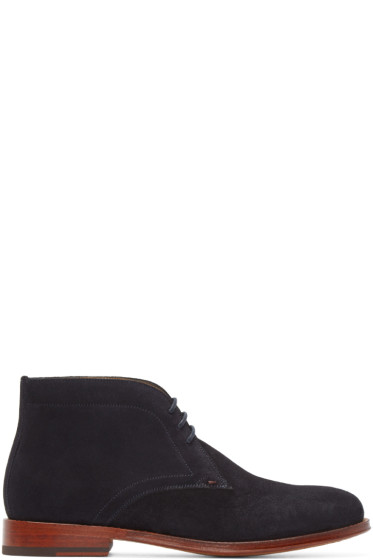 PS by Paul Smith - Blue Suede Morgan Boots