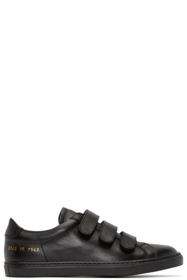Woman by Common Projects - Black Achilles Three Strap Sneakers