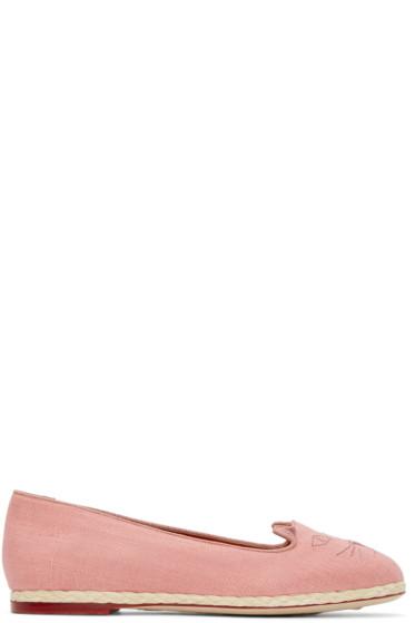 Charlotte Olympia - Pink Capri Cats Flats