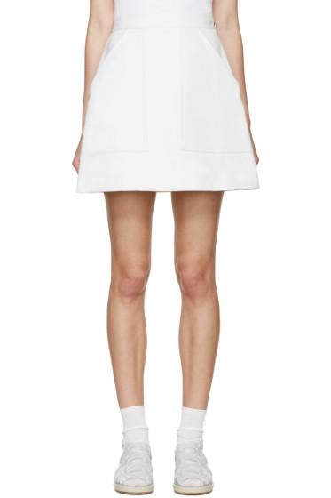 MSGM - White Panelled Miniskirt